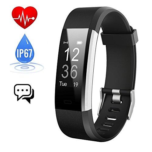 Pulsera Actividad,Monitor de Frecuencia Cardiáco,Pulsera Reloj Inteligente con Pulsómetro Impermeable Podómetro Monitor de Ritmo Cardíaco Monitor de Sueño GPS para Hombre Mujer Niños iOS Android