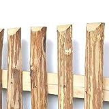 Zaunlatten aus Haselnuss • Zaunbretter 5-6 x 140cm zum Selbstbauen von Holzzaun, Lattenzaun, Staketenzaun bzw. Kastanienzaun