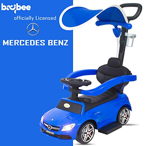 Baybee Officially Licensed Mercedes Benz Kids Ride On Push Car Toy for Babies-Parent Control Push Bar Toy Car & Small Toy Toddlers Baby Toys-Kids Toy Car Suitable Babies for Boys & Girls(1-3 Years)
