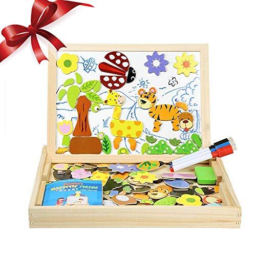 Puzzle Magnetico Blocchi Costruzioni Magnetiche InnooBaby Puzzle di Legno per I Bambini Lasciate Che...