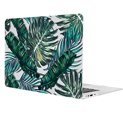 "MacBook pro 13 case 2016, icasso Hard Shell Plastic Protective case Cover for Newest MacBook pro 13"" Retina Model a1706/a1708 with/Without Touch bar and Touch id (Palm Leaves)"