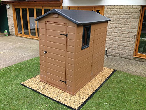 The ECO DECK 8x6 GARDEN SHED BASE GRID comes with a membrane sheet and plastic grids. The kit comes complete with everything you need to build a base for a shed measuring 8ft x 6ft and extra sizes are available too.