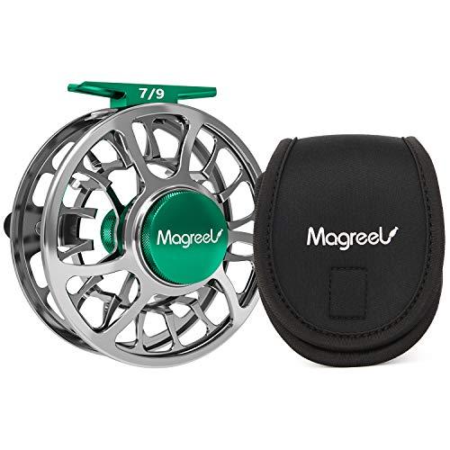 Magreel - Mulinello per Pesca a Mosca, con Corpo in Lega di Alluminio Lavorato CNC, Peso 3/4, 5/6, 7/9, Canna di Fucile, Blu, Fly Reel Gun Metal, 5/6, Fly Fishing Reel