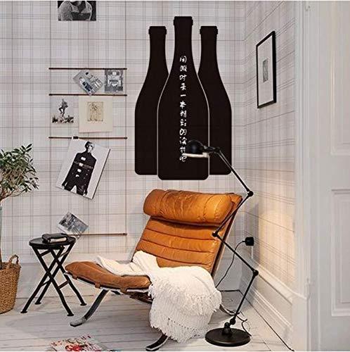Home Decoration Vino Bottiglia di birra Lavagna Adesivi 3D Lavagna Home Bar Cucina Nota Stikcer...