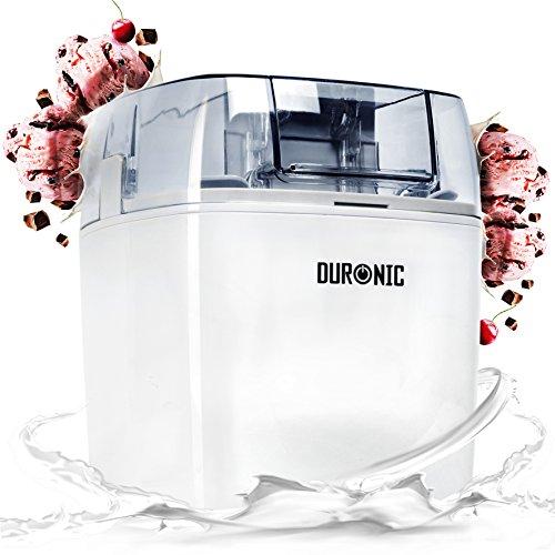Duronic IM540 Macchina per gelati 1.5 L gelatiera ad accumulo 7.3-9.5 Wper sorbetti Frozen yogurt...