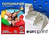 Fotopapier 200g DIN A4 50 Blatt Hochglanz Cast Coated Wasserfest TOP