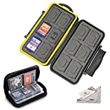 Deyard Etanche Case de carte mémoire antichoc de carte mémoire Carrying Box 24 Slots + Sac pochette zippée stockage carte mémoire 22 Slots pour SD SDHC MMC CF cartes Micro SD