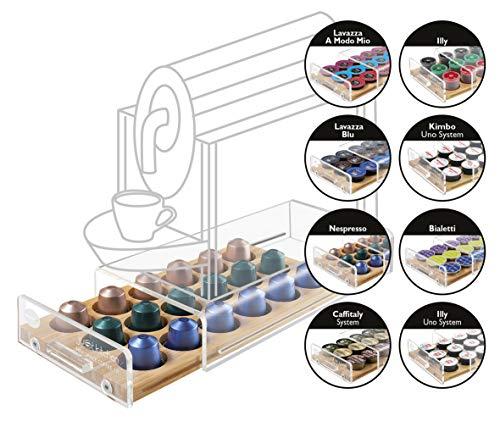 Macom Just Kitchen 836 Mini Space Coffee Dispenser Portacapsule Universale per Macchine caffè, 18...