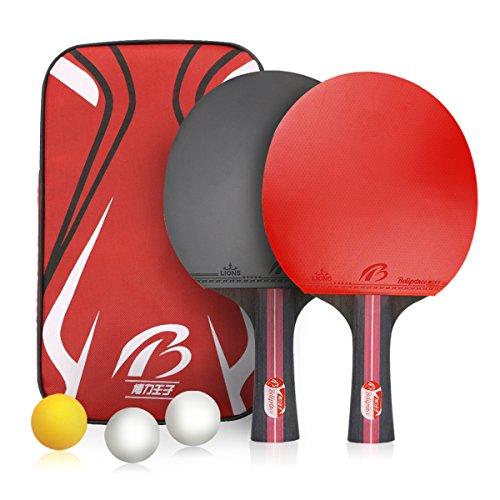 Weeygo Raquetas De Tenis De Mesa Profesionales 2 Raquetas De Ping Pong Alta Velocidad Juego De Tenis De Mesa Para El Juego De Interior Al Aire Libre