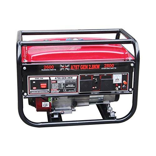 Dirty Pro Tools 2.8 KVA/2.8KW 7HP DC generador de gasolina con motor de cobre -2800W/110V/230V/12V/50HZ-