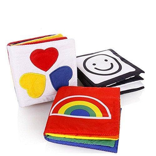 Cisixin Libri di Stoffa Composto da per lo Sviluppo Intellettivo del Bambino - Libri Stampati su...