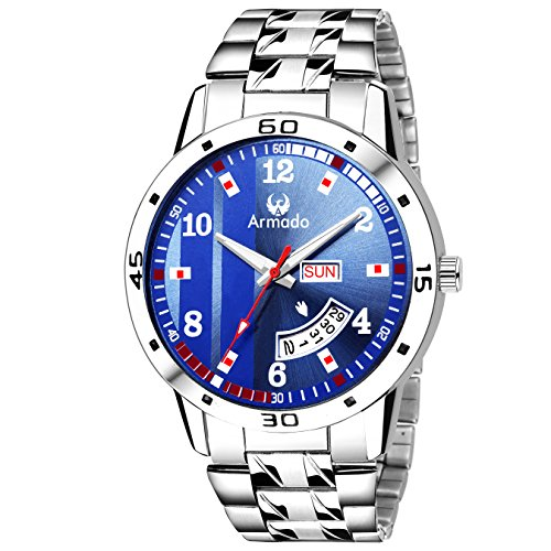 Armado Day and Date Analogue Blue Dial Men's Watch