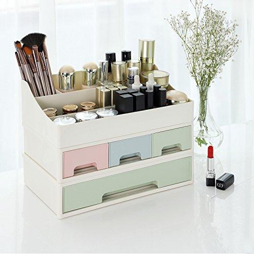 songmics 3 in 1 make up organizer kosmetik aufbewahrung. Black Bedroom Furniture Sets. Home Design Ideas