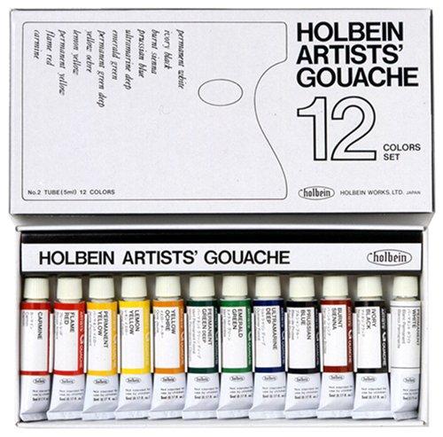 12 color set Holbein gouache (japan import)