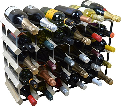 Harbour Housewares, Cantinetta Portabottiglie per Il Vino, per 30 Bottiglie, Legno Chiaro