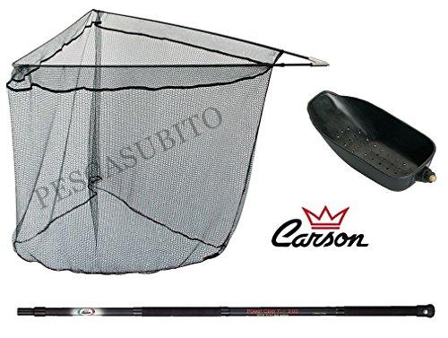 Kit Manico + guadino + cucchiaione da Pesca carpfishing Carpa