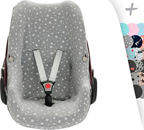 JANABEBE Funda para Bebé Confort Maxi-cosi Pebble White Star
