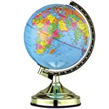 GOLD ILLUMINATING WORLD GLOBE 4 WAY TOUCH LAMP CONTROL LIGHT UP TABLE BEDROOM