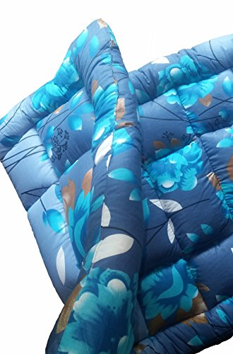Amaranthus Action Futon Bed - Single Size 3 x 6.25 Feet (36x75 inch) Poly-Fiber Filled Foldable Cotton Mattress