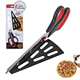 11 inch Stainless Steel Pizza Scissors, Replace Your Pizza Cutter, Sharp Scissors Let You Easily Taste Serves Hot Pizza