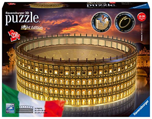 Ravensburger Colosseo Night Edition 3D Puzzle, Multicolore, 11148