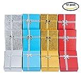 BENECREAT Confezione regalo da 12 confezioni regalo per anniversario, matrimoni, compleanni, 4 colori assortiti   3,5 x 2,7 x 1 pollici