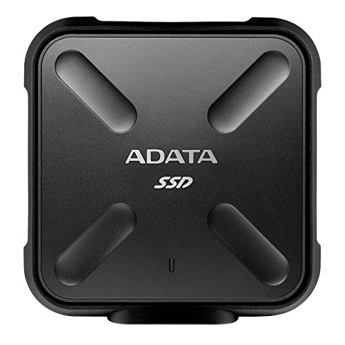ADATA 512GB SD700 SSD, Black Durable External, ASD700-512GU3-CBK (Durable External Military-grade...