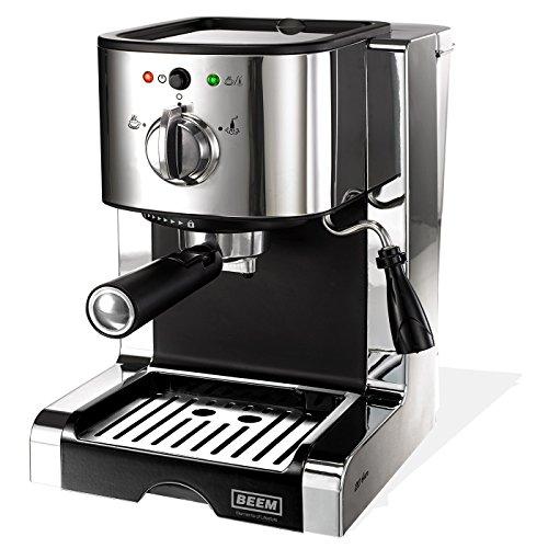 Beem - Máquina de espresso (con 20 bar), color plateado