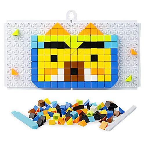 K.S.T. TOYS Mosaico Bambini, Pegboard Gioco, 198 Pezzi Puzzle Bambini, Gioco Creativo, Costruzione...