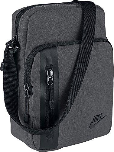 Nike Uni Core S Items 3.0 Schultertasche, Dark Grey/Black, 23 cm