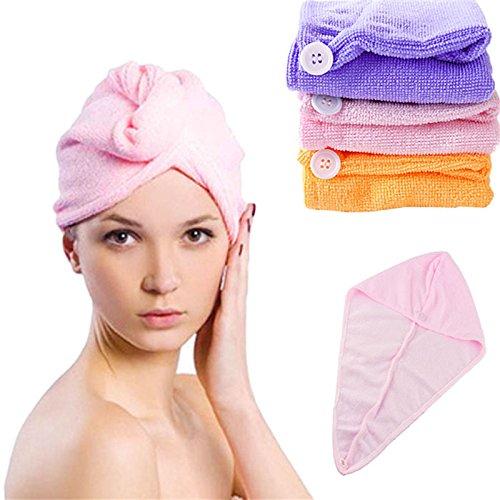 Skyzone Microfiber Hair Drying Fast Absorbing Ponytail Holder Cap Towel for Women (Multicolour)