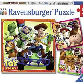 Ravensburger - Puzzle 3 x 49, Toy Story History (08038)