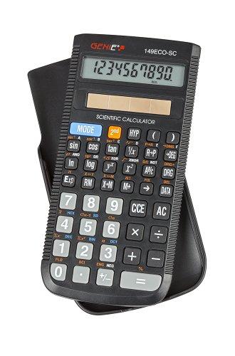 Genie 149 ECO SC technisch-wissenschaftlicher Solar-Rechner (149 Funktionen, 10 stelliges Display, Inkl. Schutzdeckel) schwarz