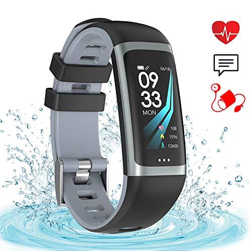Fitness Tracker IP67 Impermeabile Smart Watch Tracker di Attività Monitor della Pressione Arteriosa...