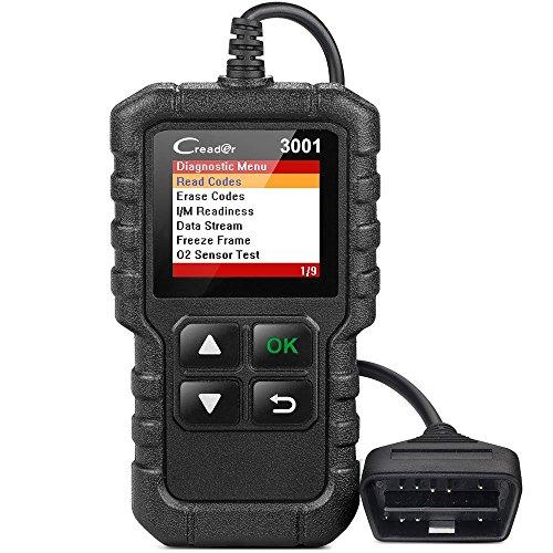 Launch Tech USA X431 Creader 3001 OBD2 Scanner Automotive Car Diagnostic Tool Check Engine Light O2 Sensor Systems OBD Code Readers Scan Tools