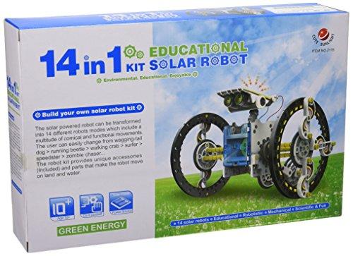 51o0SqYRKeL - CEBEKIT-C9921 CEBEK Kit Educativo Solar 14 EN 1, Color Amarillo (C9921)