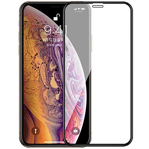 BEHAV Full Glue Edge-to-Edge 9H Hardness 11D Tempered Glass for Apple iphone X/XS (Black)
