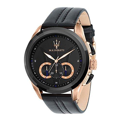MASERATI Orologio Cronografo Quarzo Uomo con Cinturino in Pelle R8871612025