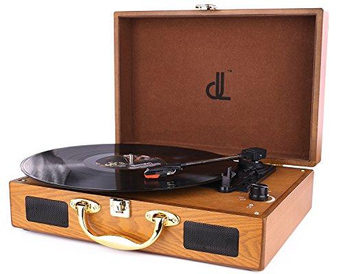 D & L Tre Velocità Giradischi 33/45/78 Giocatore Portatile Vintage in Vinile con Altoparlanti...