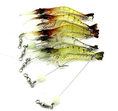 lenpaby 6unids luminoso Soft Attrezzatura Luccio Esche da Pesca Wobble Bass esche da pesca pesca esche da pesca 7.5cm 6.6g