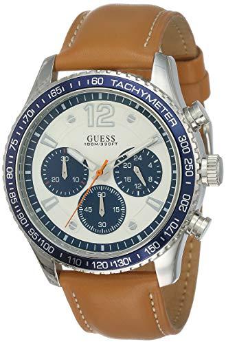 Guess Orologio Cronografo Quarzo Uomo con Cinturino in Pelle W0970G1
