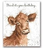 Wrendale Designs, Geburtstagskarte mit Kuhmotiv 'I herd it's your birthday' (in englischer Sprache)