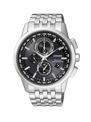 Citizen-Orologio da uomo radio Controlled Cronografo al Quarzo, Acciaio Inossidabile AT8110-61E