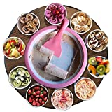 Monsterzeug Roll Eis selber machen, Eiscreme Maschine, Ice Rolls DIY Set, Rolled Ice Cream Maker, Teppanyaki, Rosa, Pink