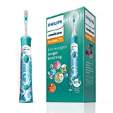 Philips Sonicare For Kids Electric Toothbrush with 1 Brush Head, 2 Modes and 8 Stickers for Customisation - HX6311/17