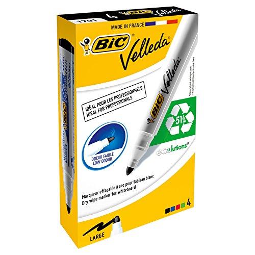 Marcatore per lavagne VELLEDA 1701 Bic - assortiti - 1.5 mm - 904941 (conf.4)