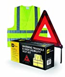AA Car Essentials Folding Warning Triangle and Vest Kit