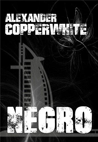 Portada-Negro - Crimen en Dubái (Novela negra de humor gratis) (Los casos de Francisco Valiente Polillas nº 1) de [Copperwhite, Alexander]