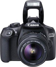 "Canon EOS 1300D - Cámara réflex de 18 Mp (pantalla de 3"", Full HD, 18-55 mm, f/1.5-5.6, NFC, WiFi), color negro - Kit con objetivo EF-S 18-55 mm f/3.5-5.6 IS II (versión importada)"