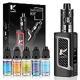 Kupbox E Zigarette Starter Set Ohne Nikotin mit 5x10ml E liquid, 80W E Shisha Dark Rider E zigarette mit 0.5Ohm 2ml Verdampfer Tank, 2000mah Akku Kit - Silber